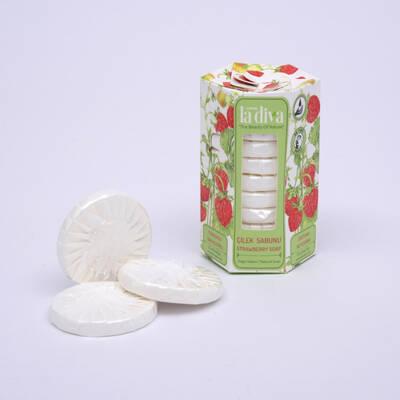 LaDiva - Aç-Yıka Paket Tekli Sabunlar Serisi Çilek 10x15 Gram (1)