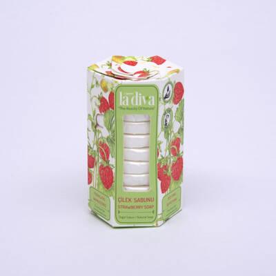LaDiva - Aç-Yıka Paket Tekli Sabunlar Serisi Çilek 10x15 Gram