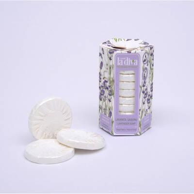 LaDiva - Aç-Yıka Paket Tekli Sabunlar Serisi Lavanta 10x15 Gram (1)